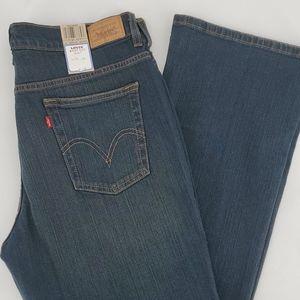 Levi's 515 Dk Wash Mid Rise Boot Cut Jeans Size 14